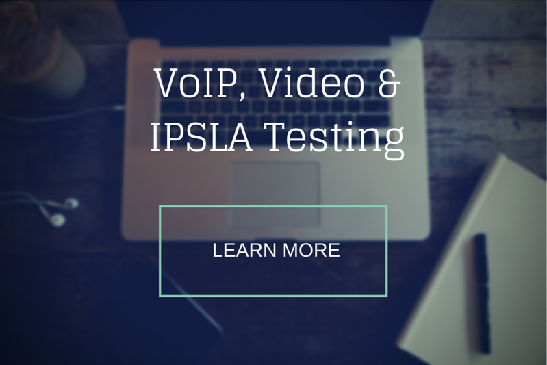 Network infrastructure VoIP and Video testing